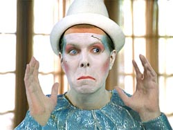 David Brighton as the Ashes to Ashes Clown in the Vittel commercial