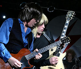 Switch pictured with David Wronski as Jeff Beck on Jean Genie!