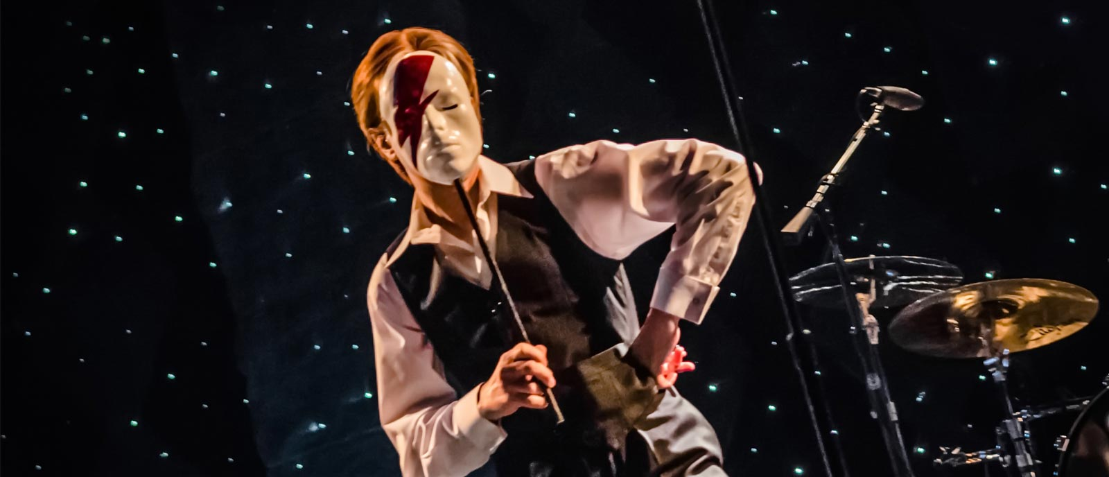 david brighton as david bowie mask